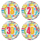 Colourful Birthday Age Balloon