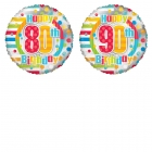 Image of Colourful Birthday Age Balloon