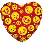 Emoji Hearts Balloon