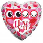 I Love You Owls Balloon