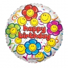 Smiley Flower Faces Balloon
