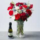 Image of Festive Flowers with Prosecco