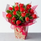 Red Tulips Gift Bag