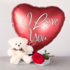 I Love You Gift - White Teddy
