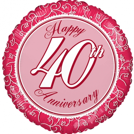 Image of 40th Anniversary Balloon