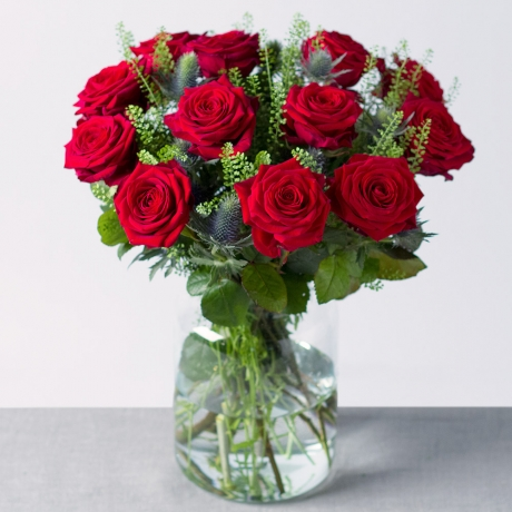 Image of 12 Luxury Red Roses