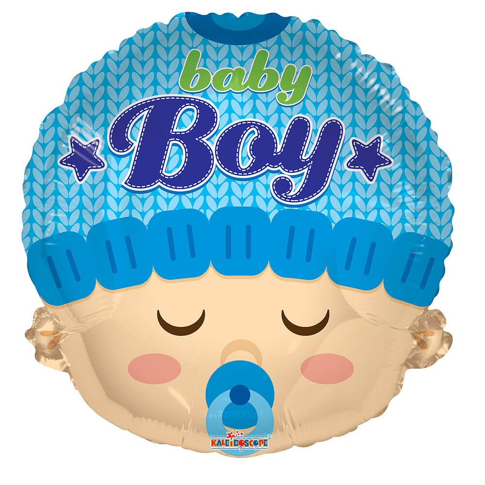 "Image of Celebrate the arrival of a new baby boy with this cute 18"" baby boy balloon!The balloon is delivered inflated in the box and comes with your own personal message."