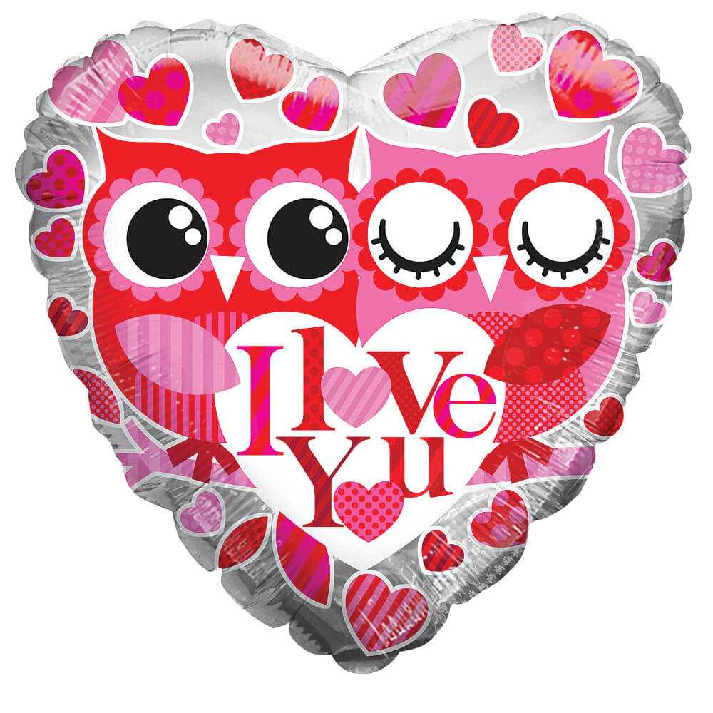 Image of I Love You Owls Balloon