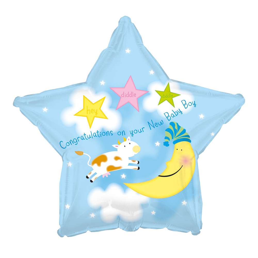 "Image of Say congratulations to the new arrival with a new 17"" baby boy balloon!Price includes delivery and gift box with your own personal message."
