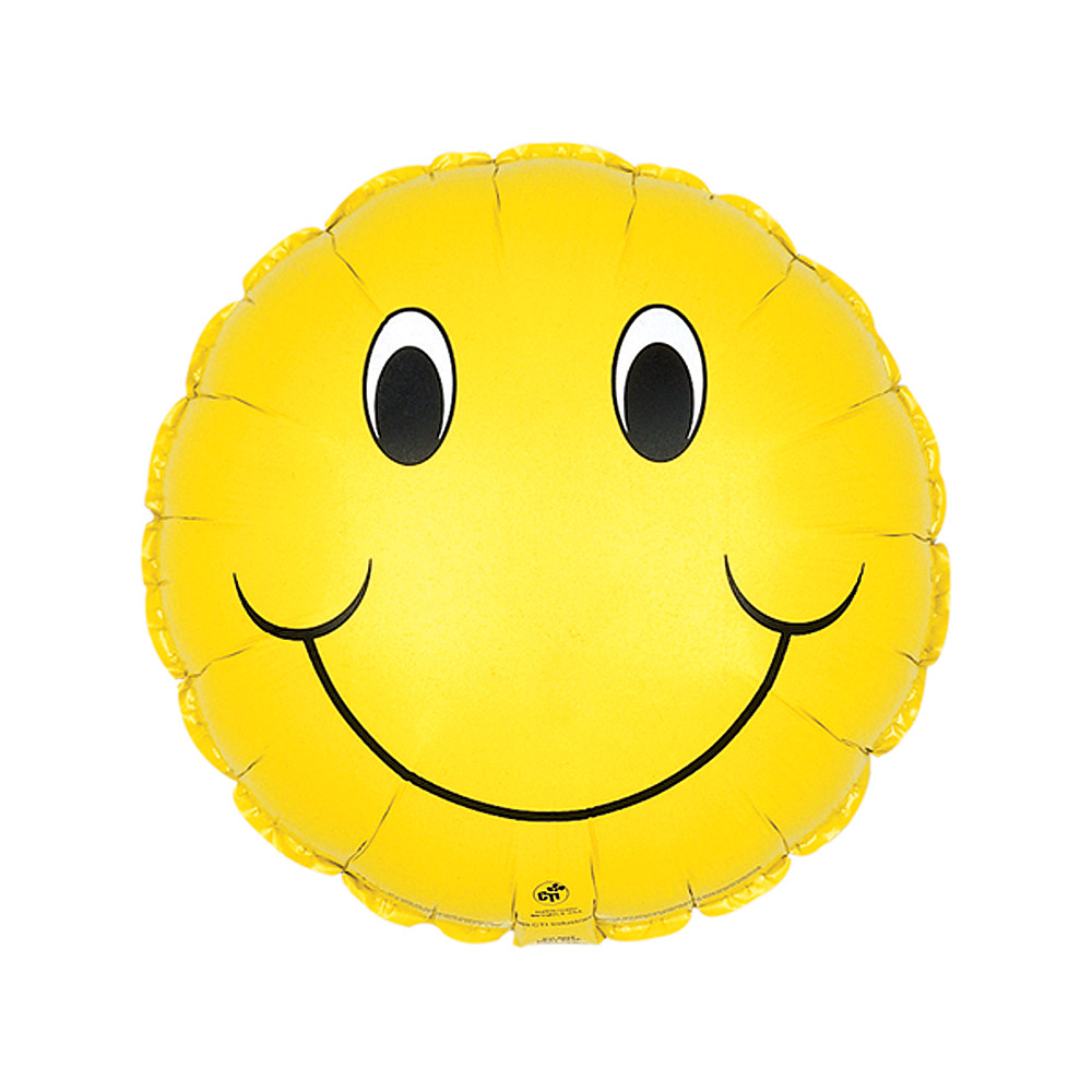 Image of Our fun 18 inch Smiley balloon is bound to surprise, put a smile on their face and show them how much you care!Our smiley balloons are delivered fully inflated with your own personal message card.