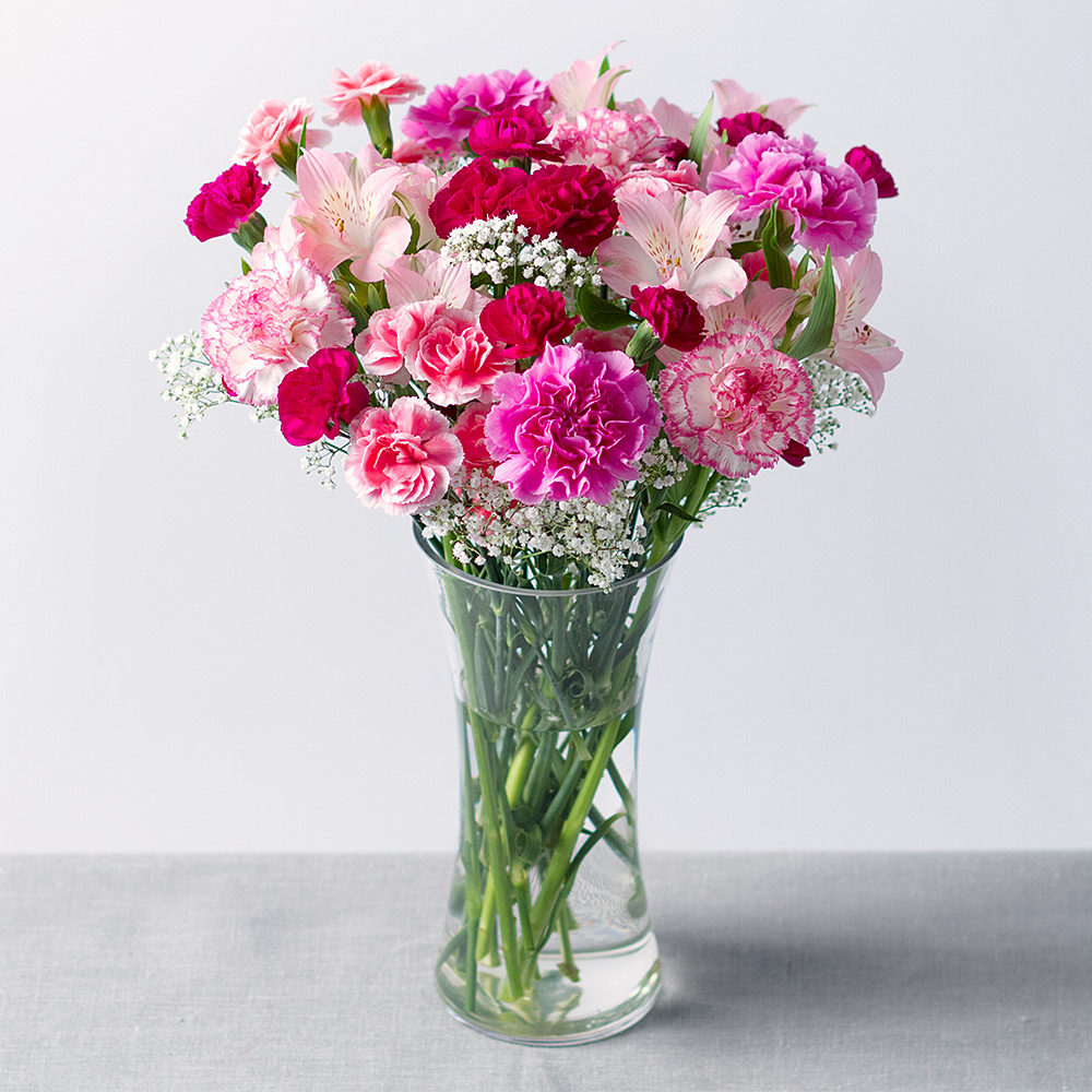 Mystique Pink Bouquet Flowers By Post Bunches Co Uk
