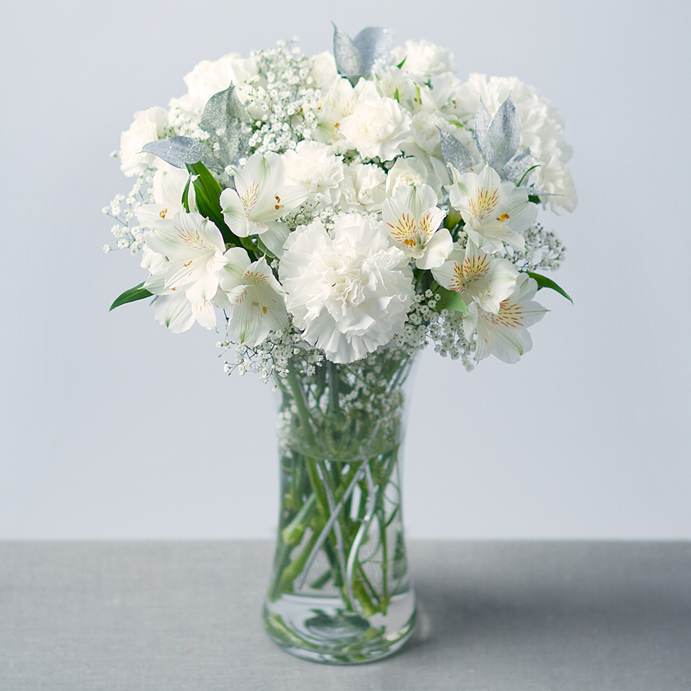 Snowflake white christmas bouquet flowers