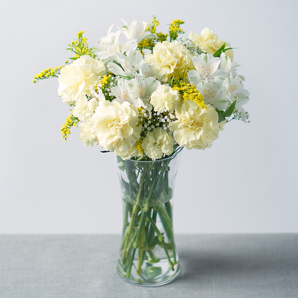 Sunshine bouquet yellow and white flowers carnations bunches image of sunshine bouquet izmirmasajfo