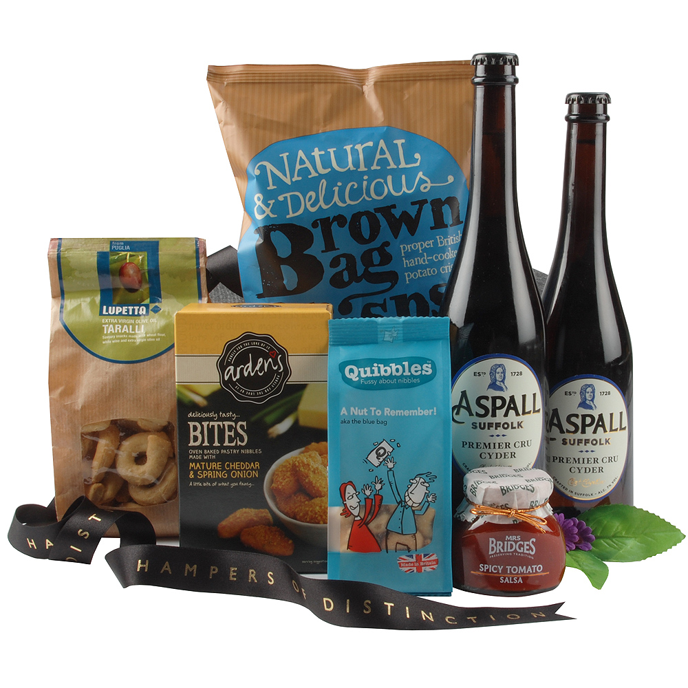 Image of Cider and Snacks Hamper