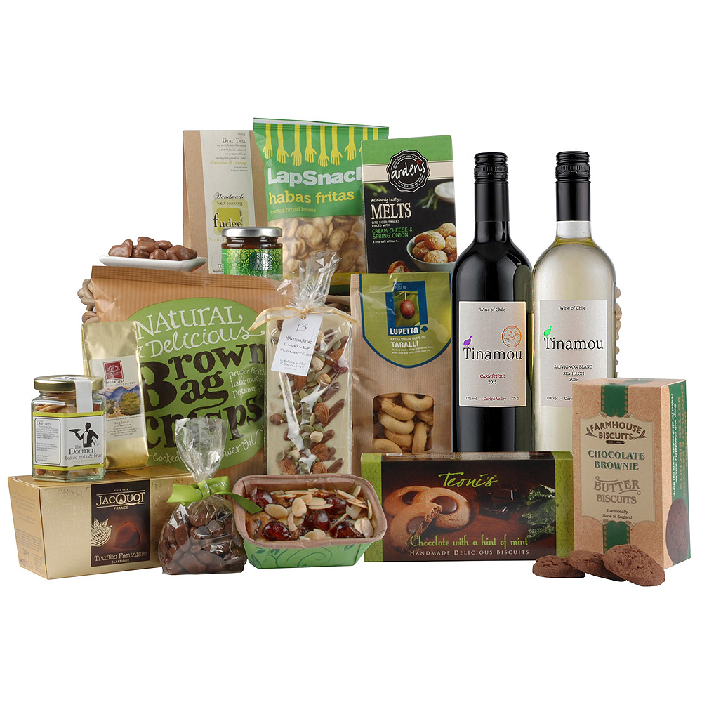 Image of A duo of Italian wines in flavours of red and white are the star feature of this gourmet hamper gift.