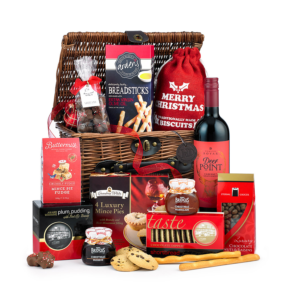 Image of The contents of this gift will certainly not be around for long! Mince pies, Christmas Preserve and Plum Pudding are just some of the tasty treats included.